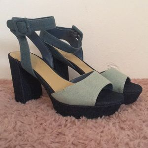 Marc Fisher Denim Platform Heels - Never worn